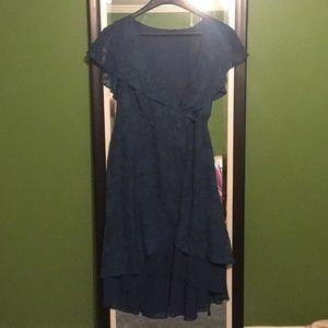 Dusty Blue Torrid Wrap Dress